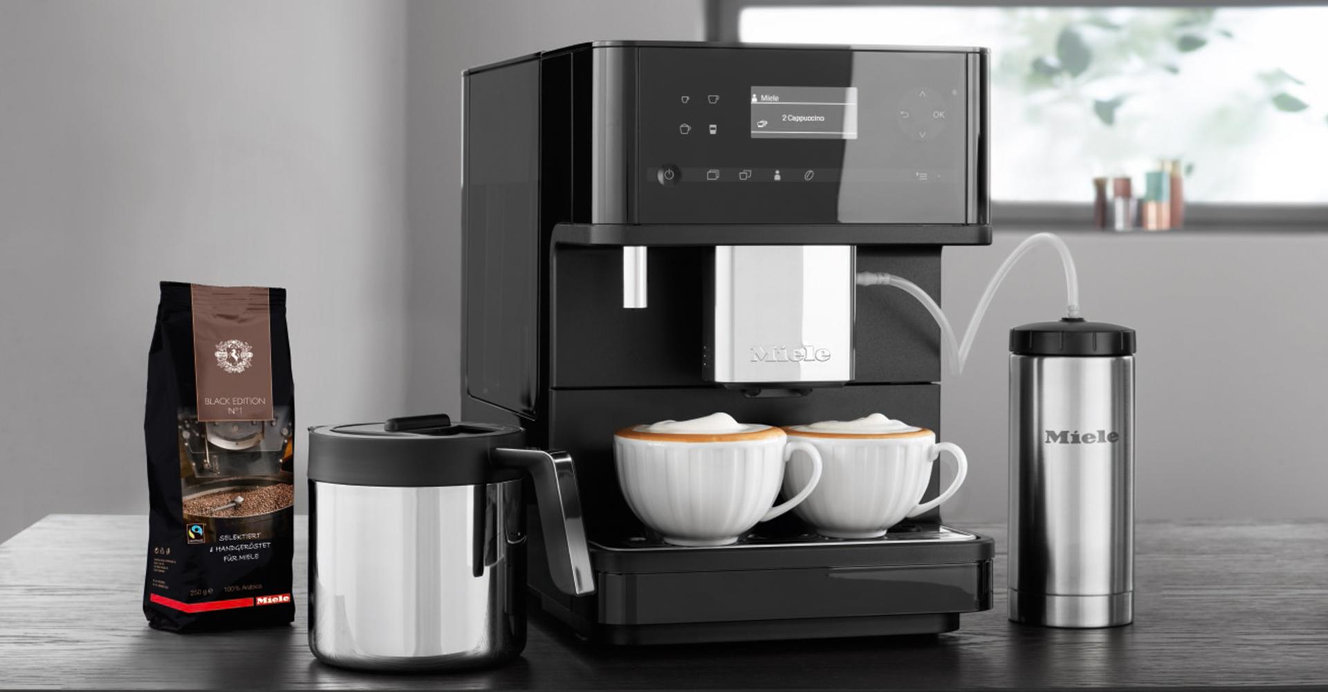 Miele cm6 black edition kaffeemaschine for Kaffeemaschine miele