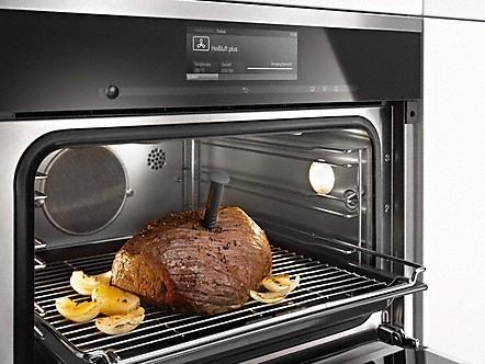 kabelloses speisenthermometer dampfgarer mit backofen. Black Bedroom Furniture Sets. Home Design Ideas