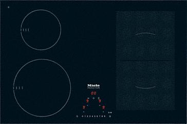miele km 6308 herdunabh ngiges induktionskochfeld. Black Bedroom Furniture Sets. Home Design Ideas